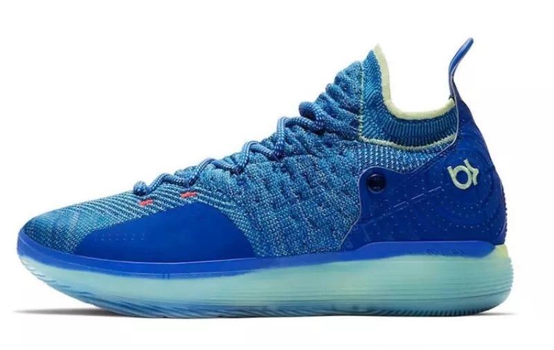 2018 KD 11 Basketball Shoes Black Grey Persian Violet Chlorine Blue Sneakers Kevin Durant 11s Designer Shoes Mens Trainers Shoe цена
