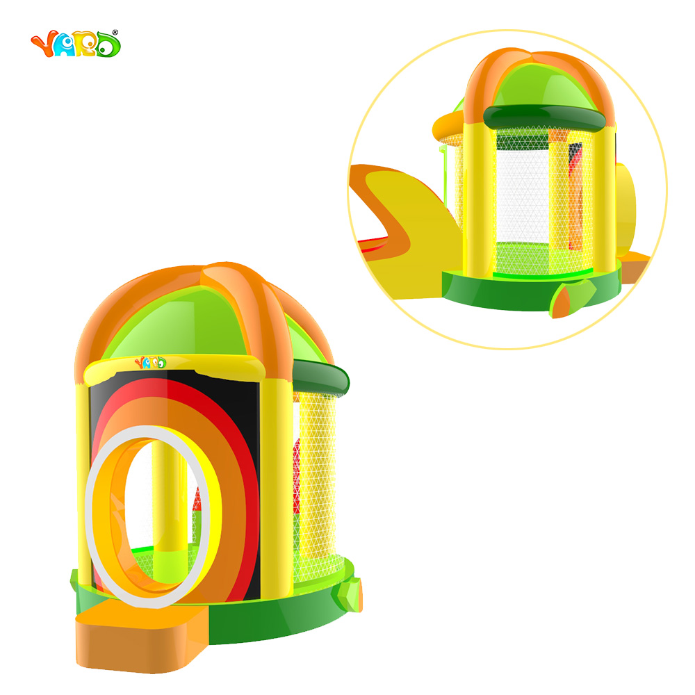 Round Inflatable Combo Slide font b Bouncer b font Bounce Castle for Children