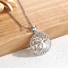 EUDORA 925 sterling silver Tree of life Necklace Tree and Star Pendant Celtics Knot Fine Jewelry For Women Anniversary gift D418