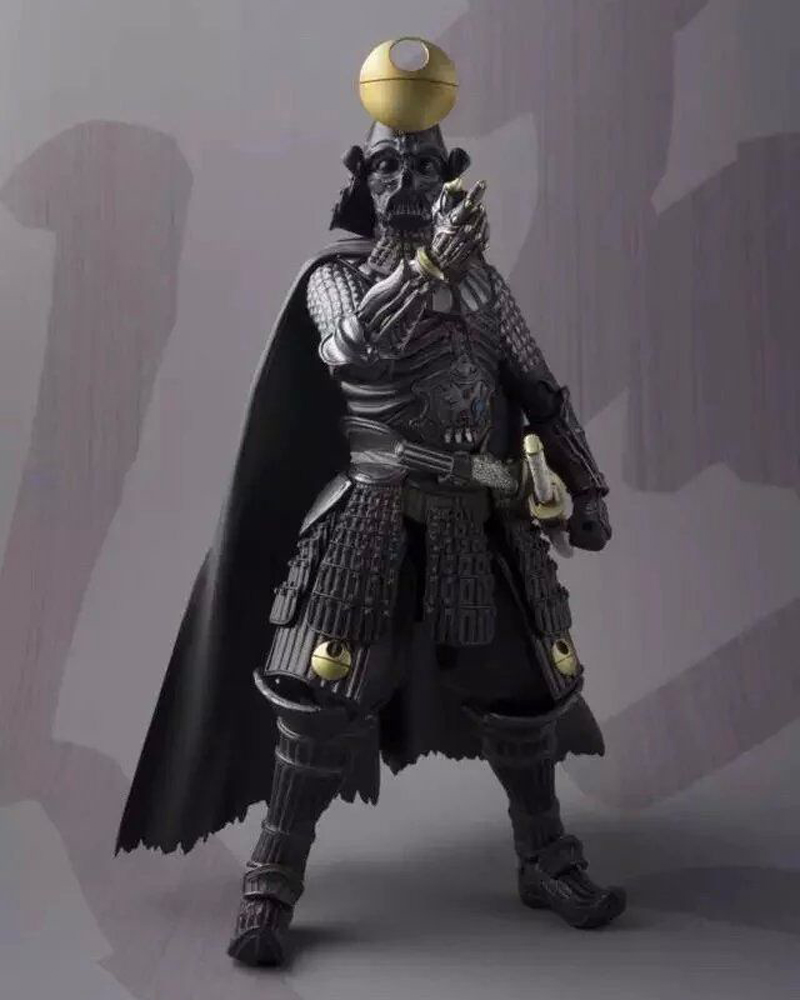 все цены на  Anime Movie Star Wars Action Figure Darth Vader Sic Samurai Taisho Doll PVC Starwars Model Toy 18cm  онлайн