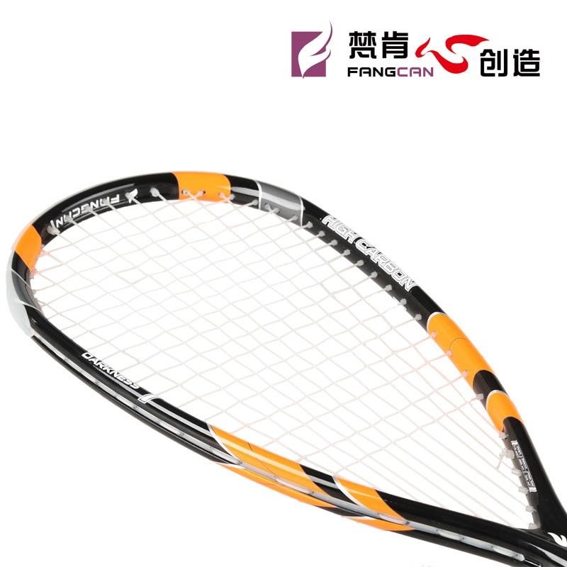 цена на 2 pcs FANGCAN high quality Squash racket Black 100% Graphite Professional Squash Racket