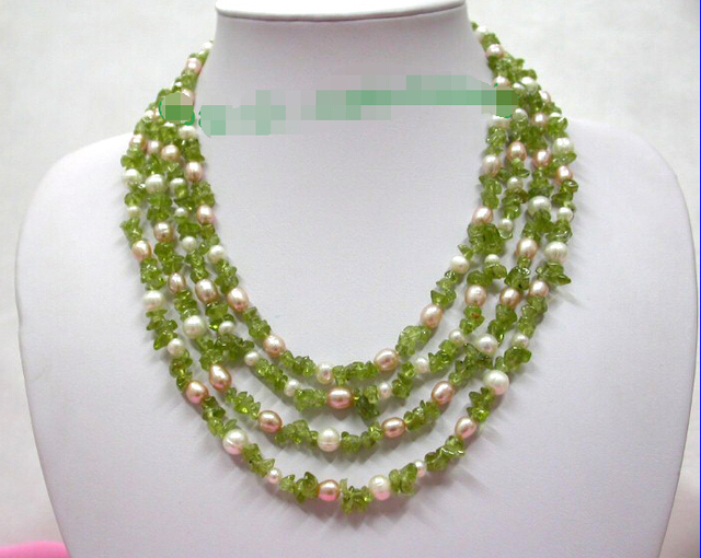 arts jewelry filigree peridot gold crafts antique shop pearls necklace