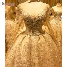 Luxus hochzeit kleid amanda novias echt arbeit 100% hohe qualität hochzeit kleid