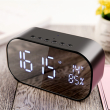 LED Alarm Clock with FM Radio wireless Bluetooth Speaker Support Aux TF USB Music Player Wireless for Office Bedroom css led stage light with wireless bluetooth speaker support tf card music fm radio with usb for parties dj etc black