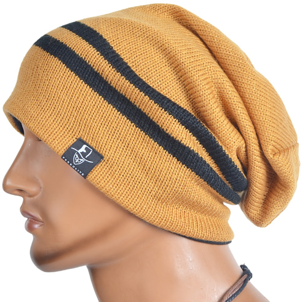 Men Women Knitting Beanie Skullcap Ski Cap Large Baggy Hat FORBUSITE mens summer cap thin beanie cool skullcap hip hop casual hat forbusite