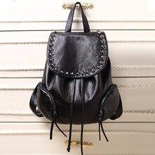 Новая кожа бренд сумка рюкзак кожа мягкая кожа дикий рюкзак
