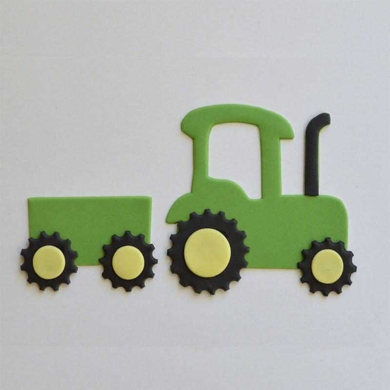 4 Stucke Traktor Geformt Kunststoff Kuchen Form Kuche Backen Mold