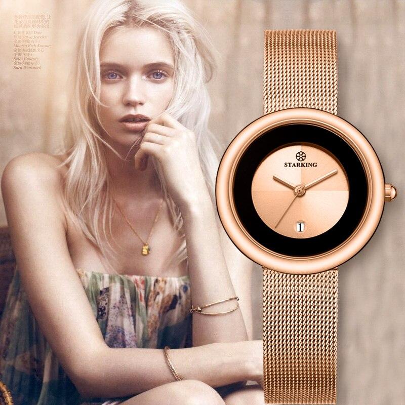 7mm Luxury Brand Women Quartz font b Watch b font Relogio Feminino Rose Gold Bracelet font