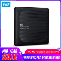 Western Digital Pro Portable External Hard Drive WD 2TB 3TB 4TB My Passport Wireless WiFi USB 3.0 battery (up to 10 hours)