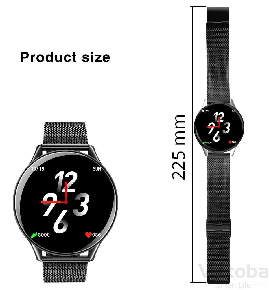 Virtoba CN58 Smart Watch 1.3'' Toughened Glass Touch Screen Smartwatch Man Women Blood Pressure IP68 Waterproof Fitness Tracker PK Q8 Q9 9