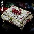 Cajas de joyas de no de madera sólida propuesta de matrimonio de La Princesa de Corea Del Sur de alta gama de estilo Europeo de reloj caja de almacenamiento de anillo