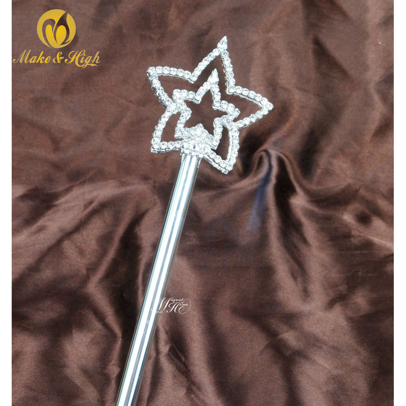 Costume Fairy Princess Queen Silver Magic Wand Scepter