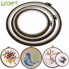 1 PC Embroidery Hoops Cross Stitch Imitated Wood Display Frame Sewing Kit Women DIY Craft Household Tools