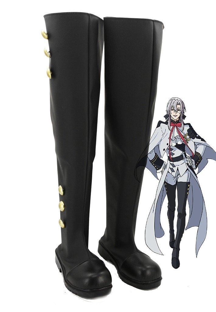 Anime Seraph of the End Mikaela Hyakuya/Ferid Bathory Cosplay Shoes Boots Custom Made-in Shoes from Novelty & Special Use    1