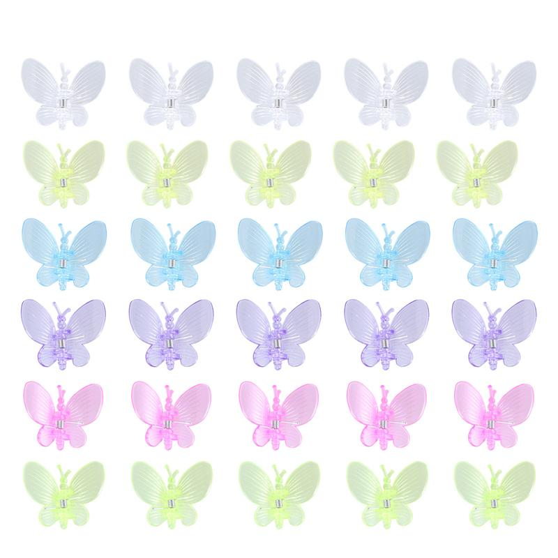 30PCS Butterfly Orchid Clips Flower Gardening Bonsai Butterfly Orchid Shape Vine Fixed Clip Graft Plant Support Vine Clips