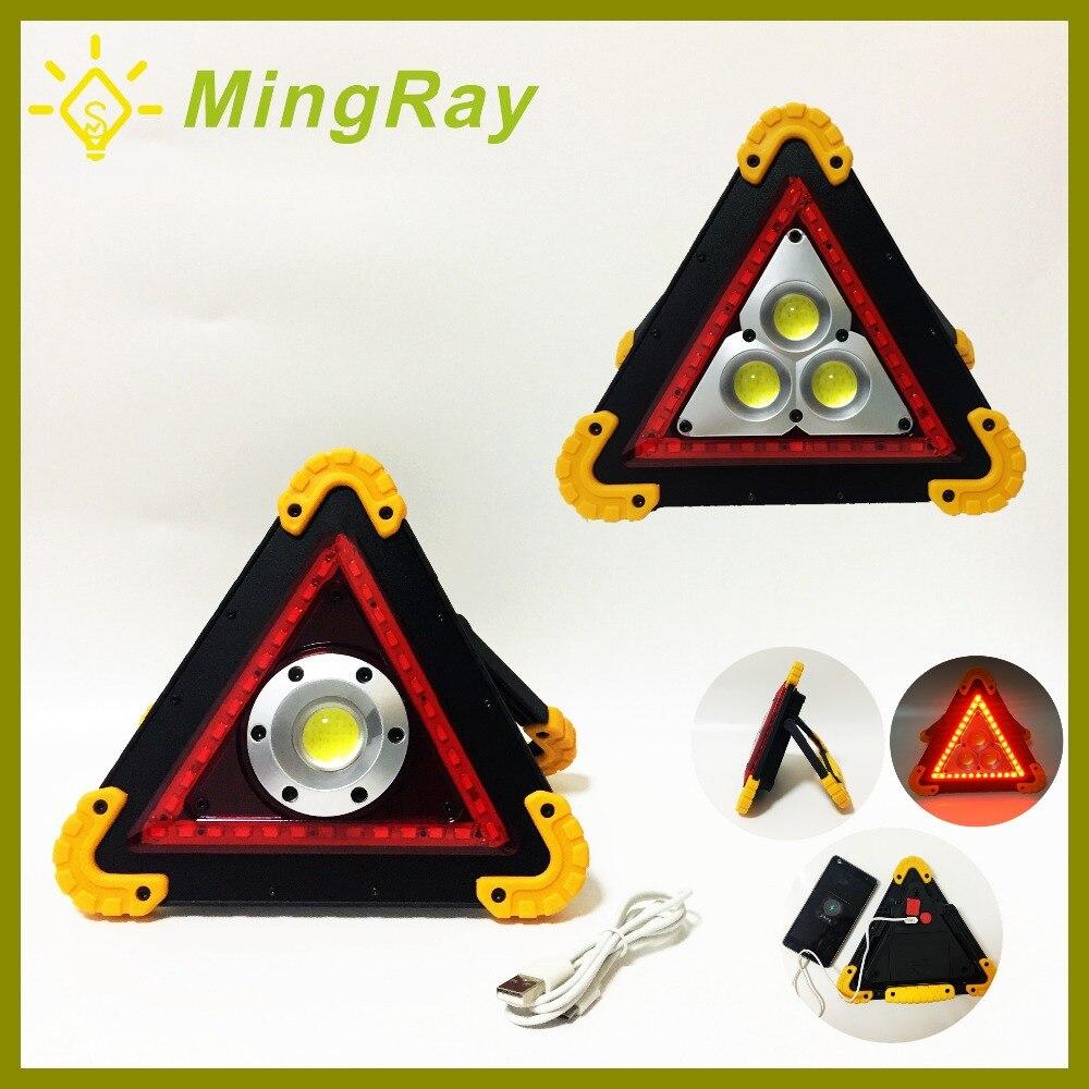 Car truck emergency lighting Rechargeable flashing fireman light 10 Watt LED Triangle Warning Faretti Portatile Auto Searchlight