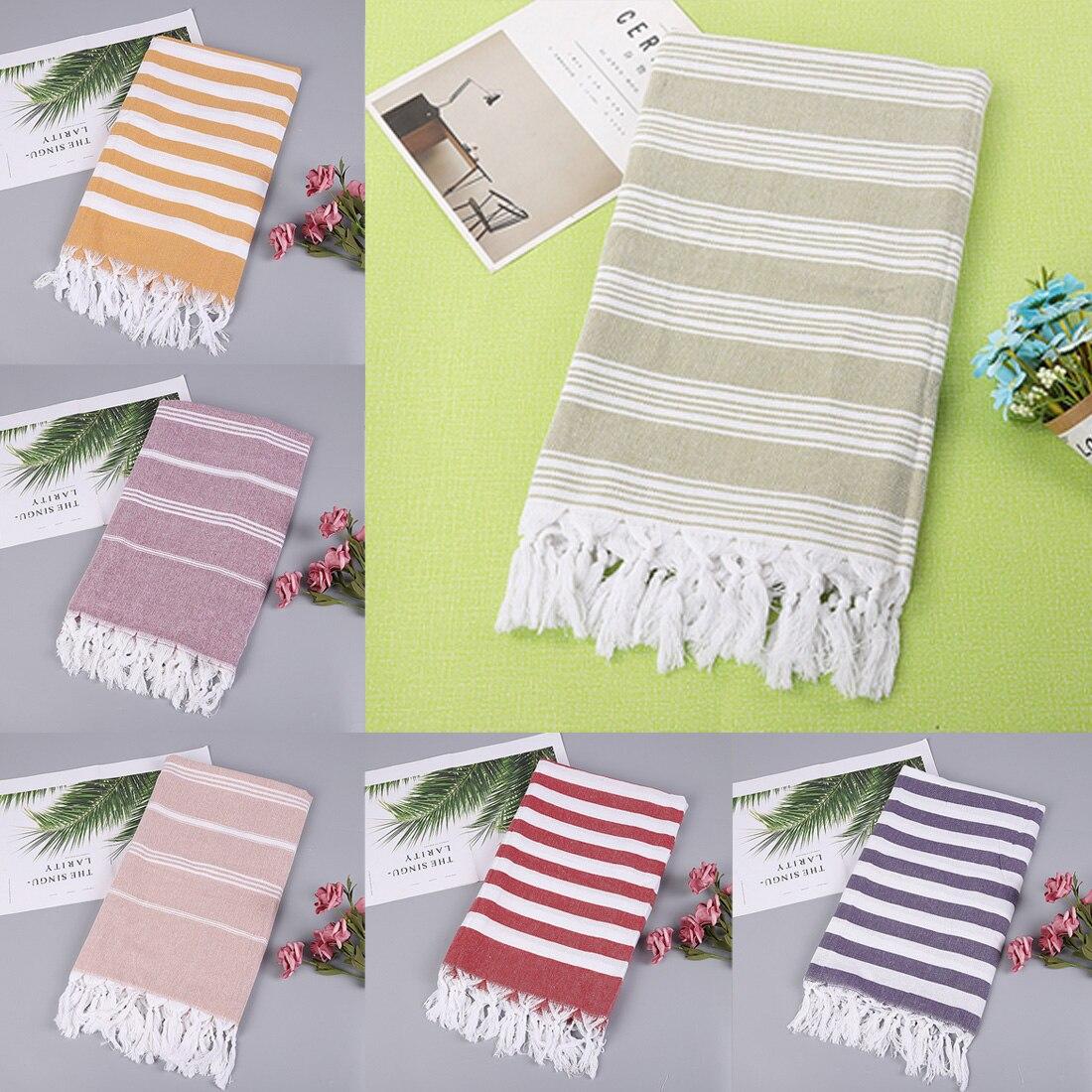 100*180 Cm Turkish Beach Towels 100% Cotton Stripes Thin