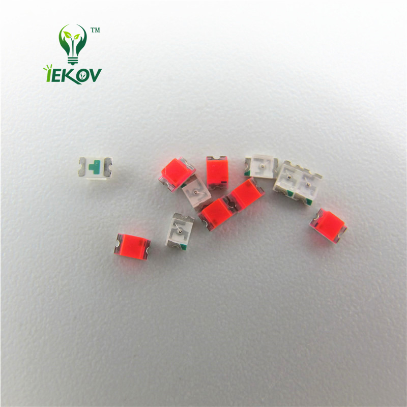 100 Pcs 0805 Smd Orange Amber Led 600-610nm Smt Led Light Diode Water Clear Diy Super Bright Diodes Active Components