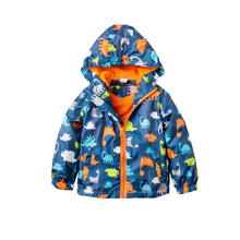 Fashion Baby Boy Jackets Softshell Hooded Animal Printed Baby Coat Outerwear Kids Spring Autumn Children Clothing