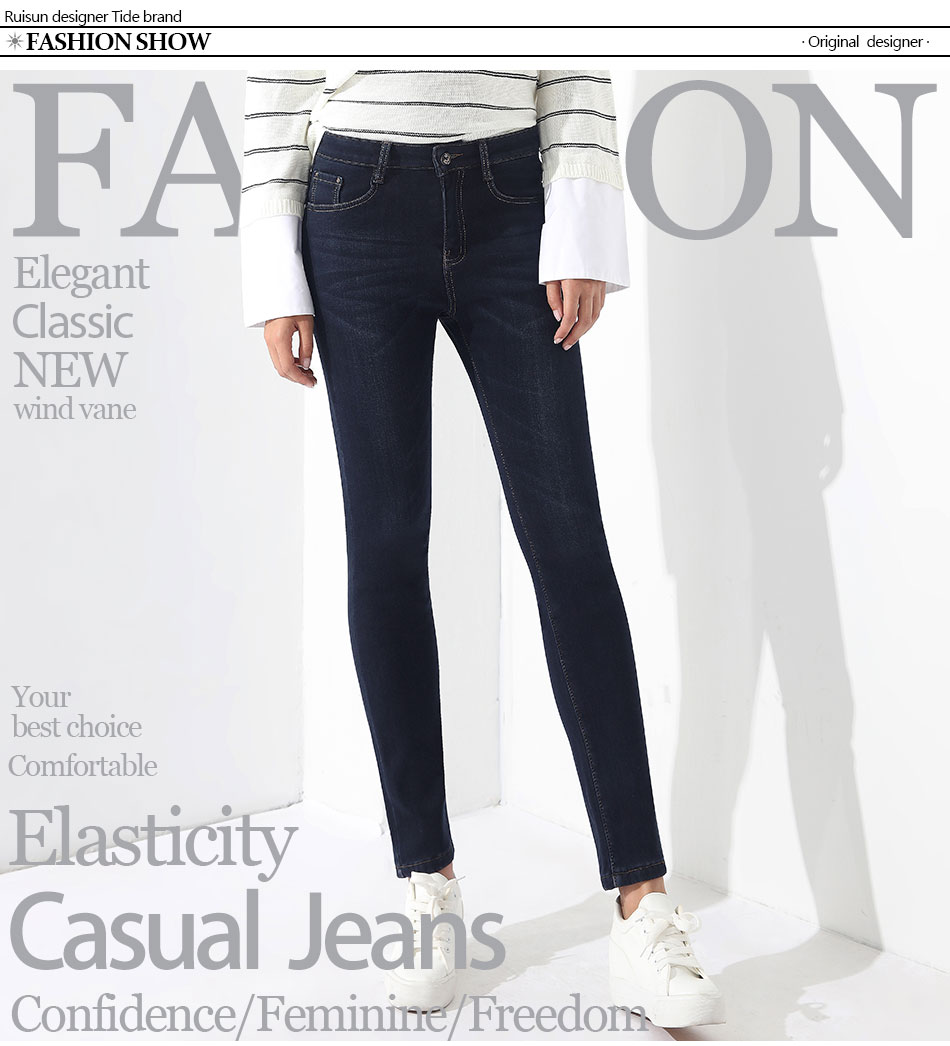 8530425e5c4 2019 Warm Jeans For Woman High Waist Plus Size Mom Jeans Winter Jean ...