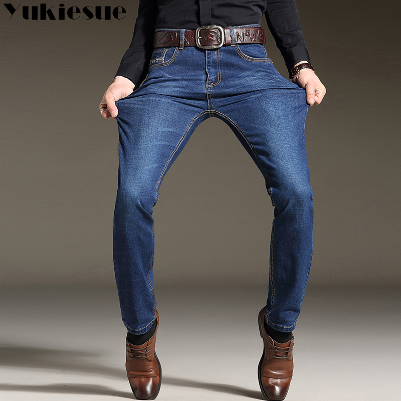 High Quality Skinny Jeans Men 2018 Winter Autumn  Men's Jeans Hombre Denim Pants Mail Trousers Jean Men Clothes Black Plus Size