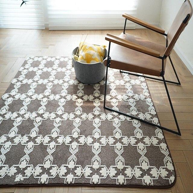 Niedriger Preis Nordic stil beige geometrische teppich ...