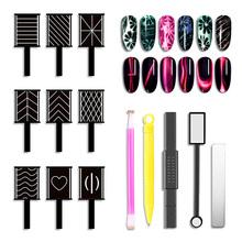 Double Head Strong Cat Eye Magnet Sticks Professional Effect Nail Tools Flower Heart 14 styles Stick LAM