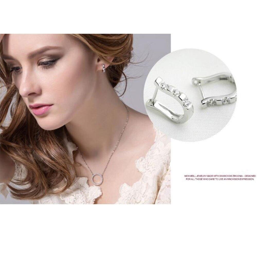Anenjery pendientes 925 Sterling Silber Ohrringe Harfe Zirkon - Modeschmuck - Foto 5