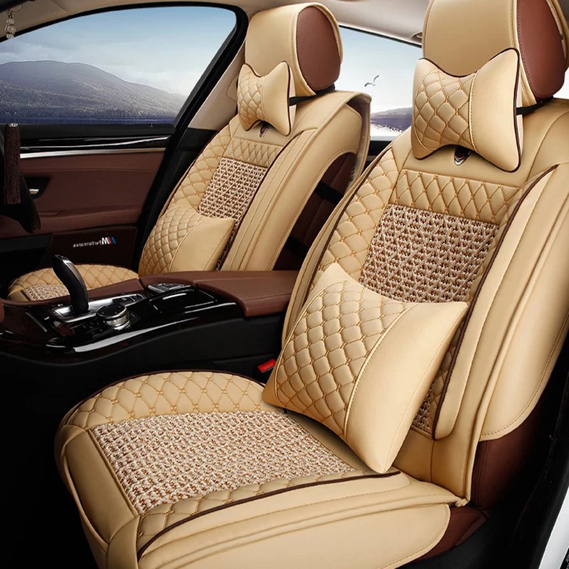 Universal Leather car seat covers For Mitsubishi Lancer Outlander Pajero Eclipse Zinger Verada asx I200 car accessories styling