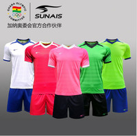 Sunais summer short sleeved adult football uniform suit youth football competition suit set wholesale free shipping