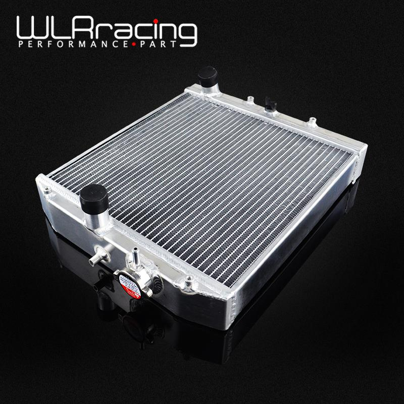 WLR RACING 52MM 3 Row Full Aluminum Radiator For HONDA CIVIC B18C B16A 32MM IN OUT