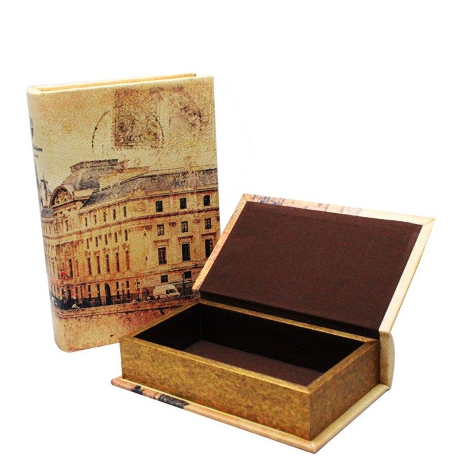 Dictionnaire de Style européen rétro livre Secret argent comptant bijoux boîte de rangement en bois coffre-fort boîte organisateur de livre avec 2 tailles