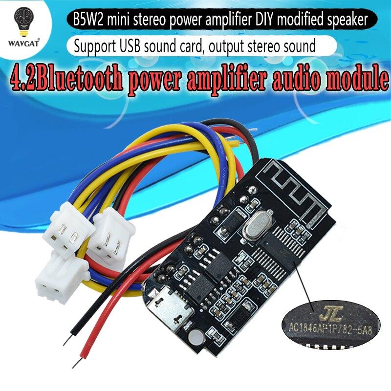 CT14 3.7V 5V 3W Digital Audio Amplifier Board Double Dual Plate DIY Bluetooth Speaker Modification Sound Music Module Micro USB