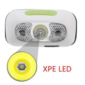Image 4 - Mini Rechargeable LED Headlamp Body Motion Sensor Headlight Camping Flashlight Head Light Torch Lamp With USB