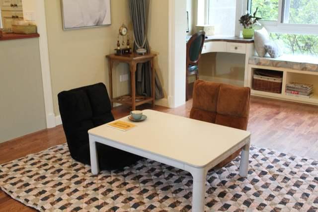 US $494.1 10% OFF|(4pcs/set)Japanese Style Kotatsu Set Folding Table Futon  Heater Living Room Furniture Kotatsu Set Warmer Low Center Table 105cm-in  ...