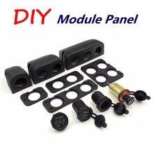 DIY модуль панель сплиттер Автомобильный адаптер питания можно выбрать гнездо прикуривателя, вольтметр, 5 В 2.1A USB Автомобильное зарядное устройство, панель