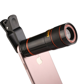 Mobile Phone Camera Lens 12X Zoom Telephoto Lens With Universal Clip for Smartphones
