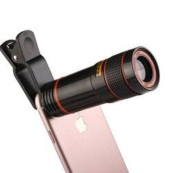Dropshipping obiektyw aparatu telefonu komórkowego 12X Zoom teleobiektyw zewnętrzny teleskop z uniwersalny klip dla Smartphone w Obiektywy do telefonów komórkowych od Telefony komórkowe i telekomunikacja na