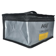 HRB 215x155x115mm Fireproof Rc LiPo Battery Portable Explosion Proof Safety Bag Safe Guard Charge Sack