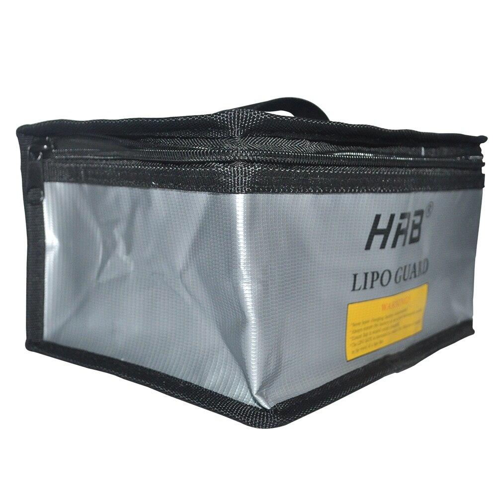 Hrb 215x155x115mm à prova de fogo rc lipo bateria portátil à prova de explosão saco de segurança seguro guarda carga saco