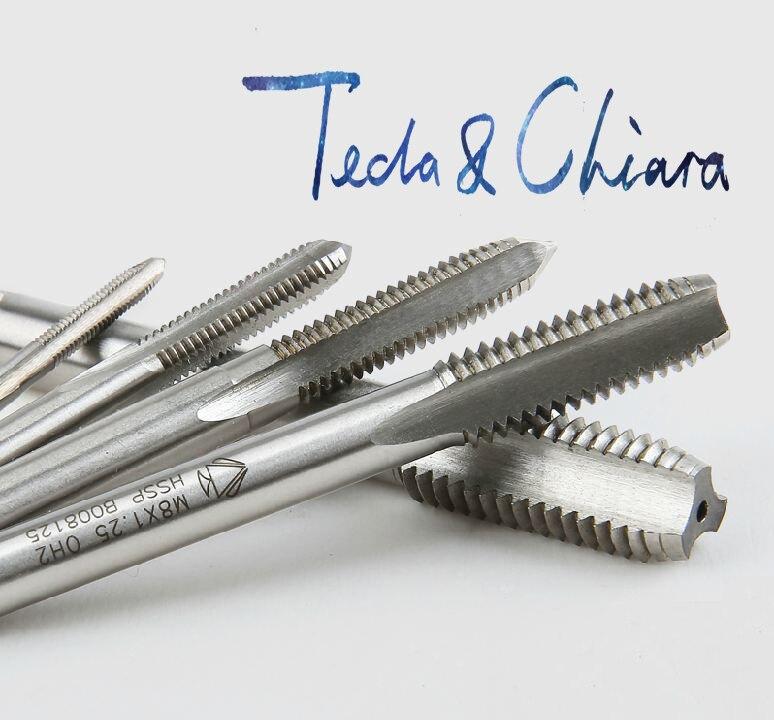 M2 M2.5 M3 M4 x 0.4 мм 0.45 мм 0.5 мм 0.7 мм левая рука Метрическая HSS нажмите Threading Tools для обработки формы * 0.4 0.45 0.5 0.7