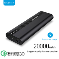 Powerseed Tank Plus QC3.0 20000mAH Power Bank 5V/3A Dual USB Output With LED Light External Battery Pack Travel To Carry