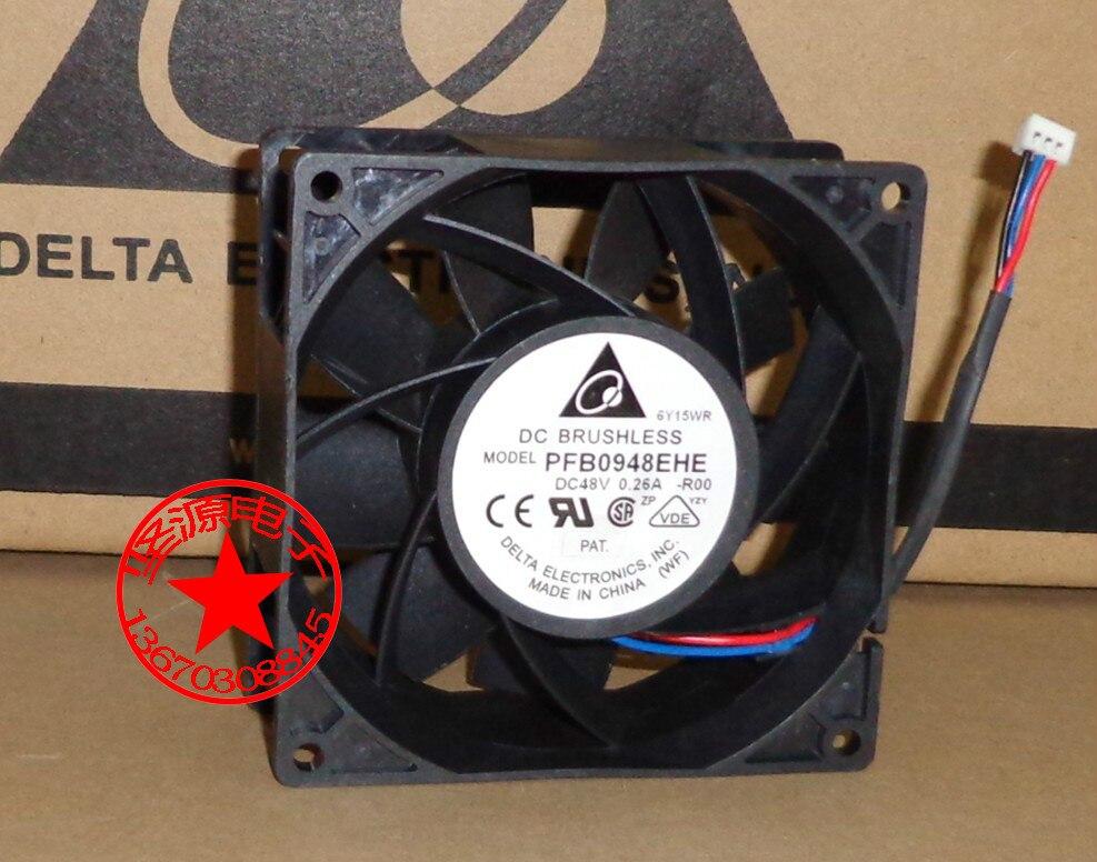 DELTA PFB0948EHE R00 DC 48V 0.26A 90x90x38mm Server Square fan delta efb1248hh r00 12025 48v 0 12a 12cm cooling fan