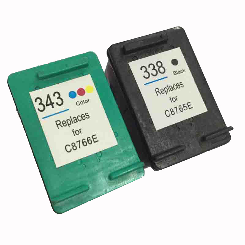einkshop 338 Compatible <font><b>Ink</b></font> Cartridge Replacement For <font><b>HP</b></font> 338 343 Photosmart 8150 <font><b>C3100</b></font> C3150 PSC 1500 1600 Deskjet 460 5740 6520 image