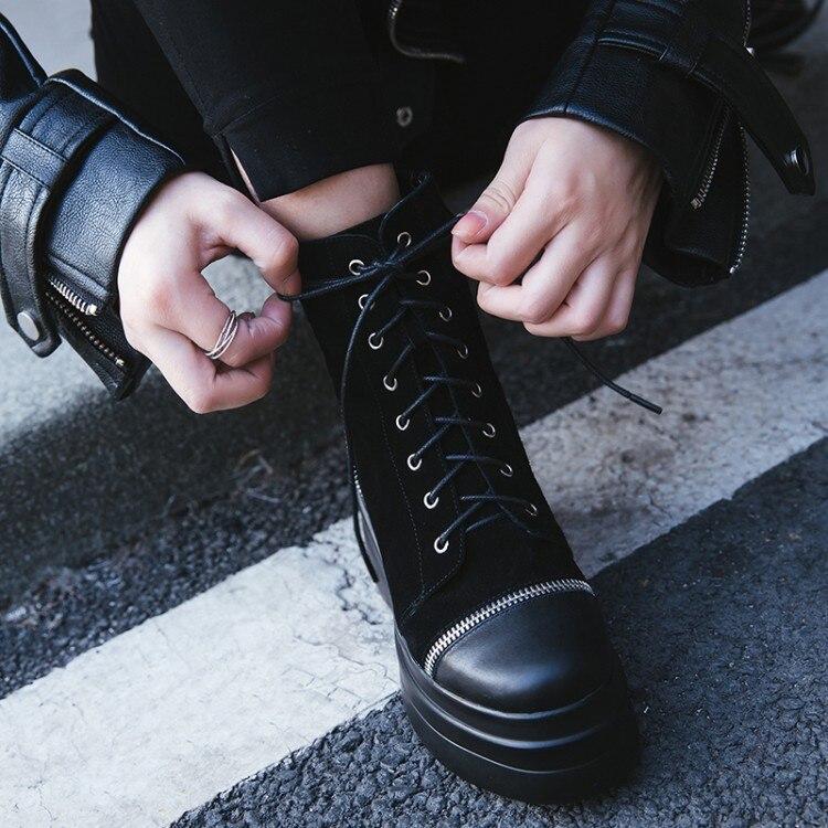 Et Martin Cuir Femme Femmes Noir Cheville Plate Chaud forme Mode Talons Hiver En À Pour Daim {zorssar} Chaussures Hauts Bottes c5WtUxFf