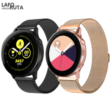 Laforuta Milanese Loop for Samsung Galaxy Watch Active Band 20mm 22mm Quick Release WatchBand Samsung Galaxy 42mm Strap Band genuine nylon leather watchband 20mm 22mm for samsung galaxy watch 42mm 46mm sm r810 r800 quick release band canvas strap