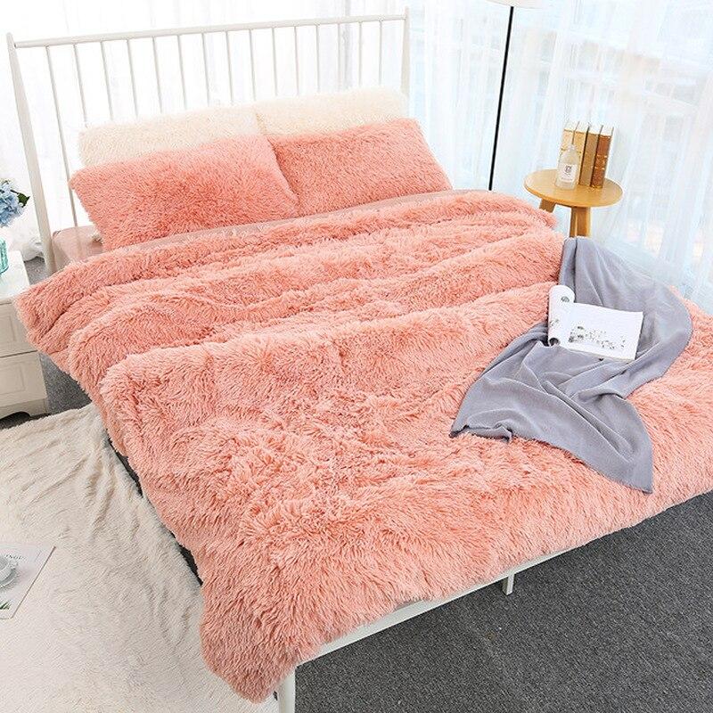 160*200cm Elegante Wurf Decke für Bett Sofa Bettdecke Lange Shaggy Weiche Warme Bettwäsche Blatt Klimaanlage Decke
