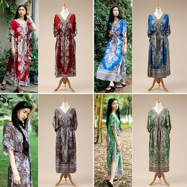 2017 Новых персонализированных путешествия праздник платье Индии Непальский Таиланд бязь платье Юго-Восточной Азии Традиционный специальный Платье Z003