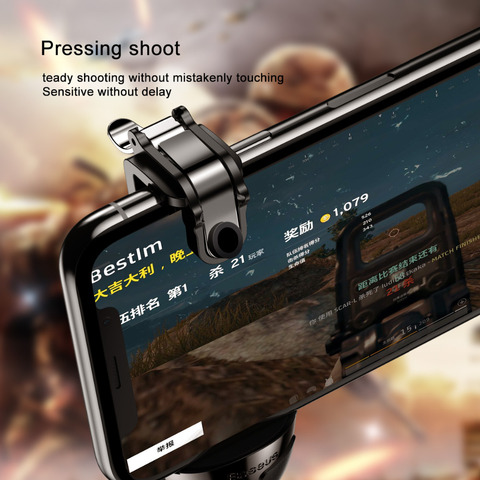 Baseus Gamepad For PUBG IOS Android Joystick Joypad L1 R1 Mobile Phone Game Pad Shooter Controller Trigger Fire Button Handle Islamabad