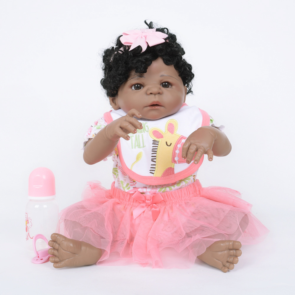 55cm Lifelike Full Silicone Newborn Doll Reborn Baby Doll Toy for Kids Girl Birthday Christmas Gift 55cm full body silicone reborn baby doll toys lifelike baby reborn princess doll child birthday christmas gift girls brinquedos